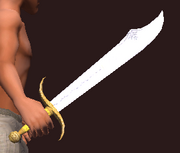 Forest Falchion (Equipped)