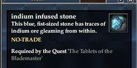 Indium infused stone
