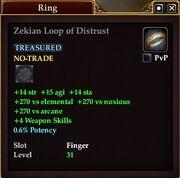 Zekian Loop of Distrust
