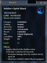 Soldier's Spirit Shard