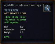 Crystalline rock shard earrings
