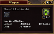 Flame Licked Amulet
