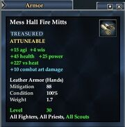 Mess Hall Fire Mitts
