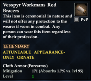 Vesspyr Workmans Red Bracers