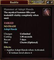 Hammer of Adept Hands