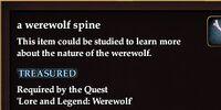 A werewolf spine