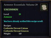 Armorer Essentials Volume 29
