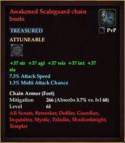 Awakened Scaleguard chain boots