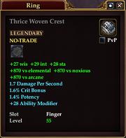Thrice Woven Crest
