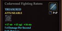 Cedarwood Fighting Batons