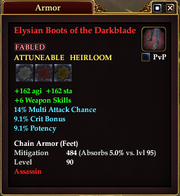Elysian Boots of the Darkblade
