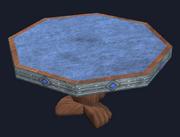 Octagonal mahogany table (Visible)
