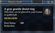 A gray granite druid ring