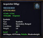 Acquisitor Effigy