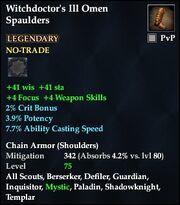 Witchdoctor's Ill Omen Spaulders