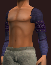 Indigo Shoulderpads of the Far Seas Traders (Equipped)