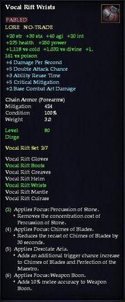 Vocal Rift Wrists