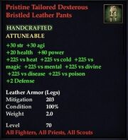 Pristine Tailored Dexterous Bristled Leather Pants