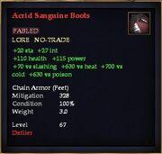 Acrid Sanguine Boots