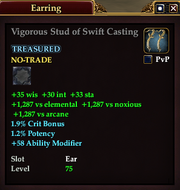 Vigorous Stud of Swift Casting