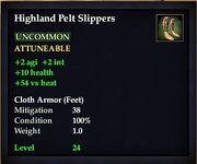 Highland Pelt Slippers