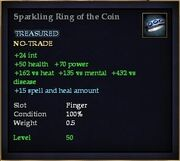 Sparkling Ring of the Coin