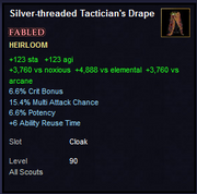 Silver-threaded Tactician's Drape