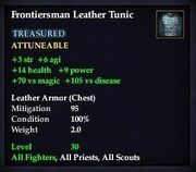 Frontiersman Leather Tunic