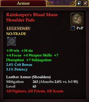 Rainkeeper's Blood Moon Shoulder Pads