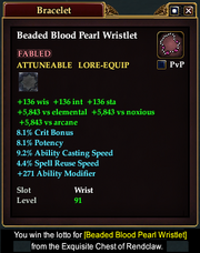 Beaded Blood Pearl Wristlet