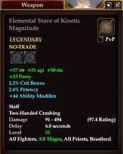Elemental Stave of Kinetic Magnitude