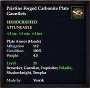 Carbonite Plate Gauntlets