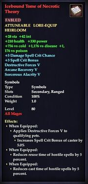 Icebound Tome of Necrotic Theory