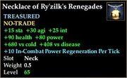 Necklace of Ry'zilk's Renegades