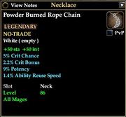 Powder Burned Rope Chain