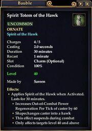 Spirit Totem of the Hawk