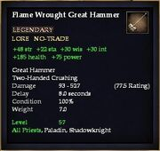 Flame Wrought Great Hammer