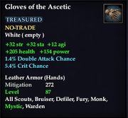 Gloves of the Ascetic