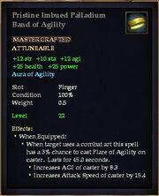 Pristine Imbued Palladium Band of Agility