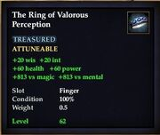 The Ring of Valorous Perception