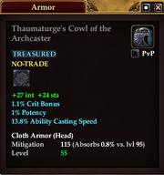 Thaumaturge's Cowl of the Archcaster