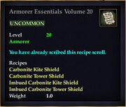 Armorer Essentials Volume 20