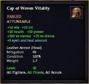 Cap of Woven Vitality