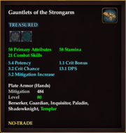 Gauntlets of the Strongarm