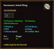 Sacrosanct Astral Ring