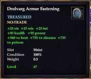 Drolvarg Armor Fastening