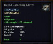 Frayed Gardening Gloves