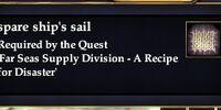 Spare ship's sail