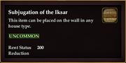 Subjugation of the Iksar