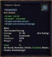 Totemic Spear